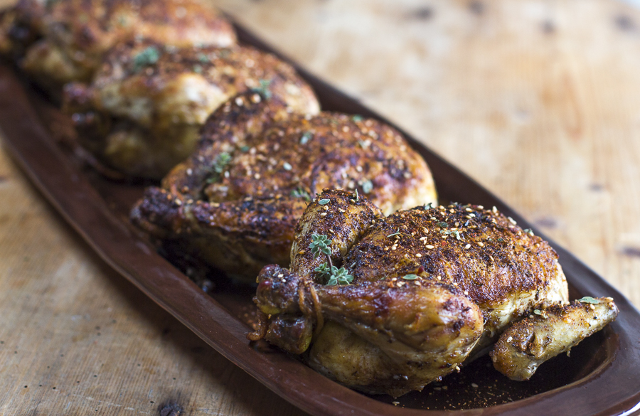 This recipe make 4 roasted capons - perfect for entertaining!