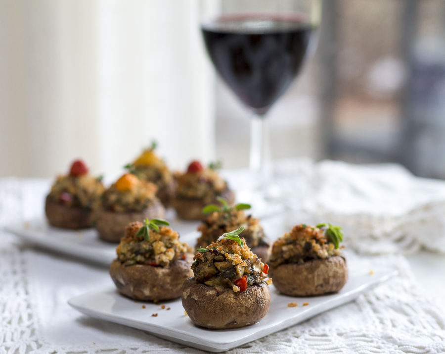 Serve the warm mushrooms and offer glasses of full-bodied Tuscan wine