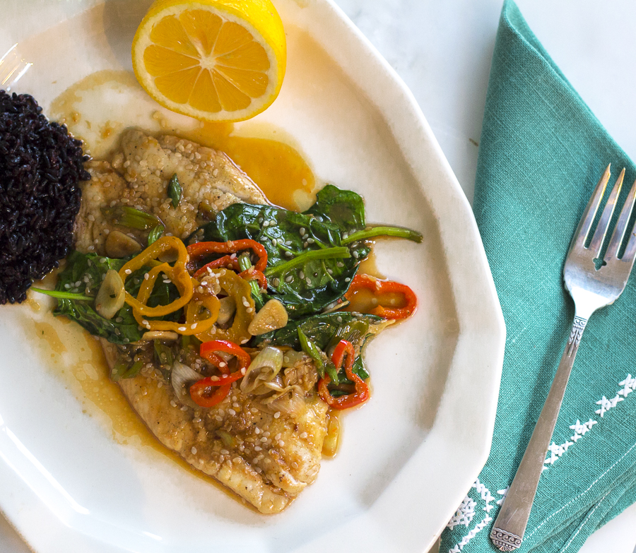 One of my all-time favorite recipes: Sizzling Flounder. Simple Asian flavors surround this healthy, light and delicious dish – a must try for my readers.