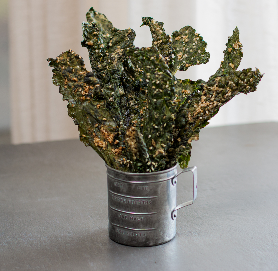 Massage into the kale leaves – the Tahini Sesame paste with Za'atar Seasonings