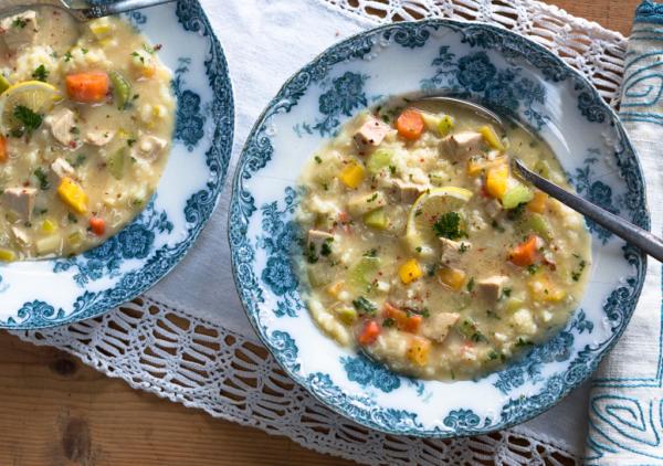 Greek Lemon Turkey Soup (an after Thanksgiving special recipe)