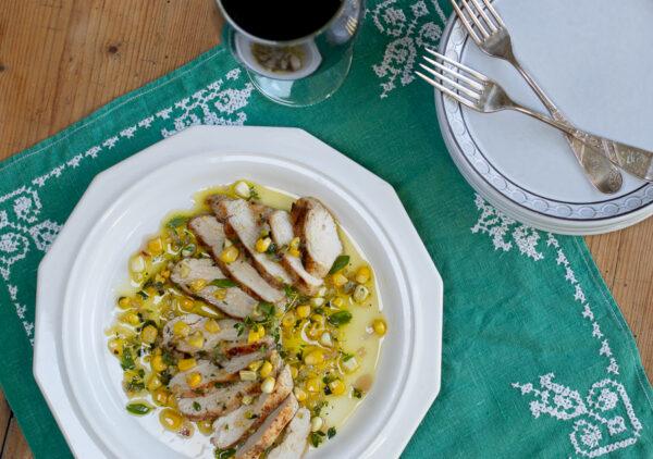 Mediterranean EVOO Herb & Corn Sauce for Chicken