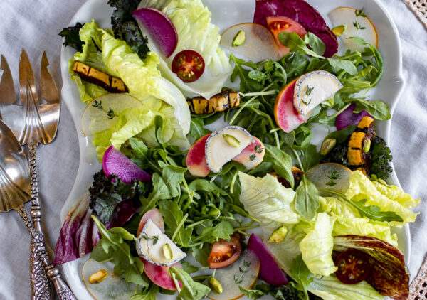 Fall Salad with Chèvre and Apples