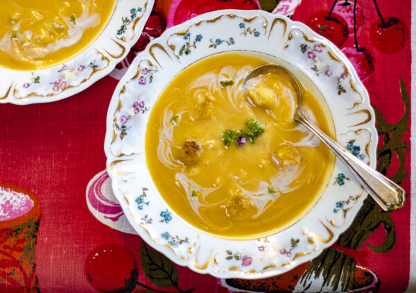 Acorn Squash and Celeriac Soup for Fall