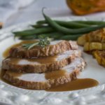 Karen's Roast Thanksgiving Turkey Basted with Fruit Juices and Marsala Gravy