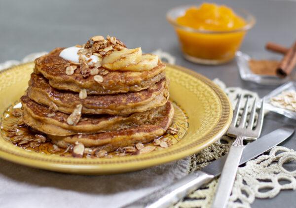 Pumpkin & Oatmeal Pancakes