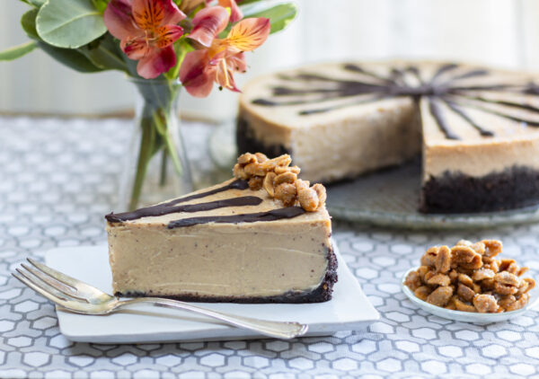 Lightened-Up Peanut Butter Cheesecake with Chocolate