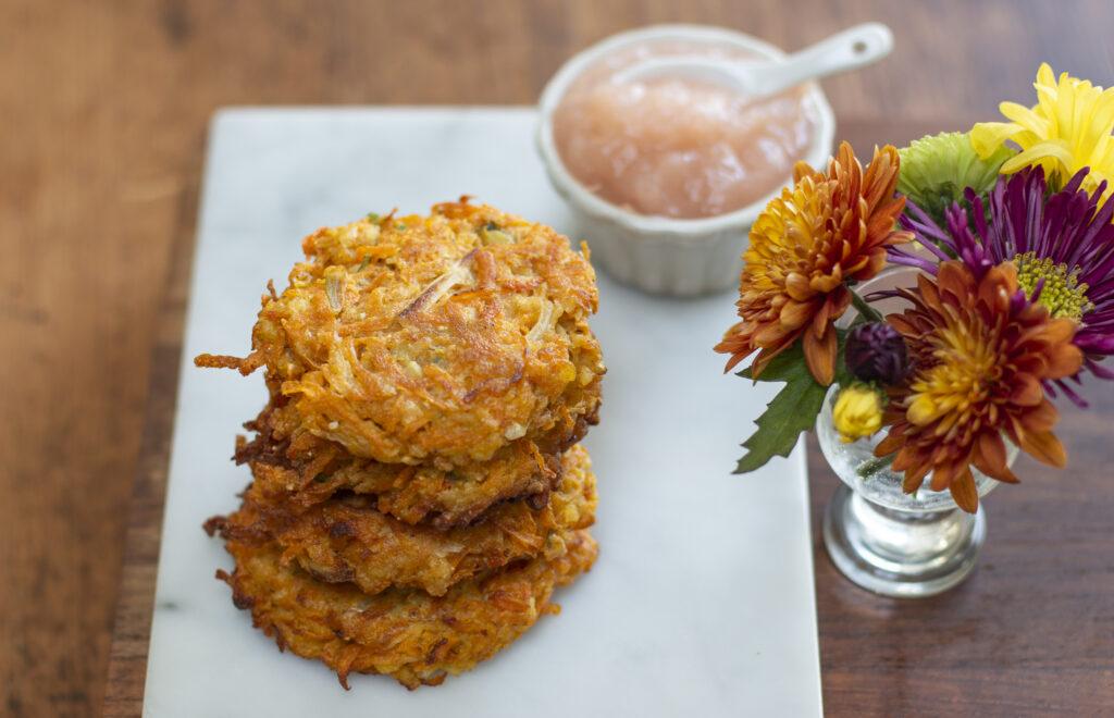 Butternut Squash Latkes - A new twist for your Potato Pancake repertoire.