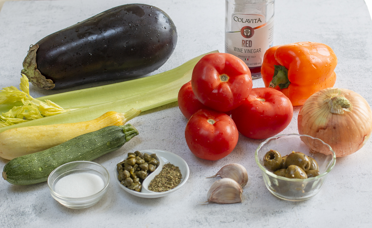 Ingredients for the Grilled Caponata