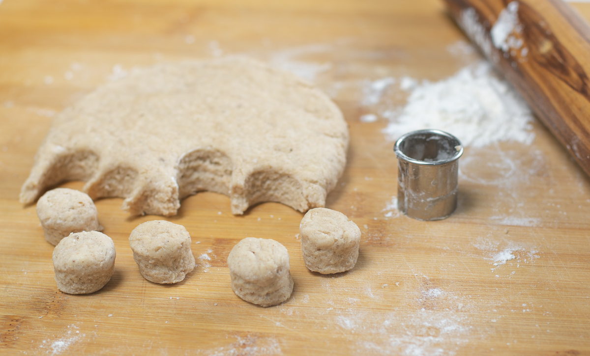 Cut the cobbler dough into desired shapes - I like a petite round shape