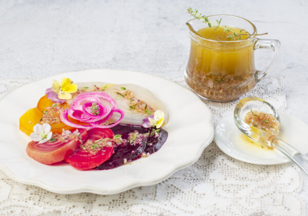 Quattro Colore Beet Salad with Shallot-Thyme Vinaigrette