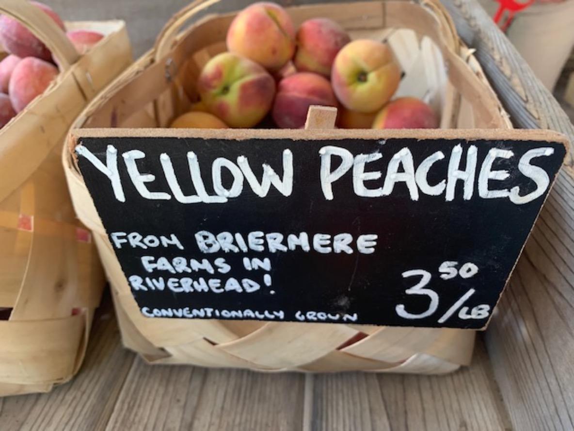peaches from Briermere Farm, Riverhead NY