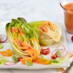 Tomato Vinaigrette over lettuce hearts