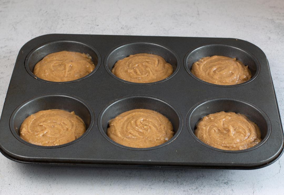 Pour the honey cake batter into Texas sized tins - makes 6 cakes