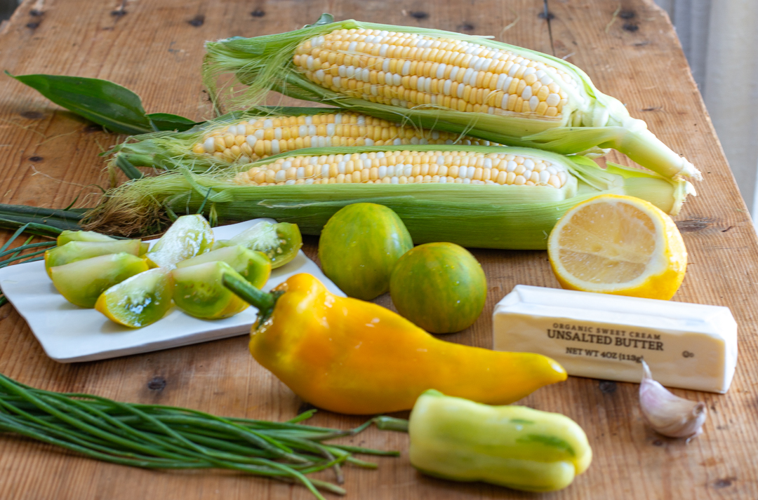 Ingredients for Corn Salad with Browned Butter