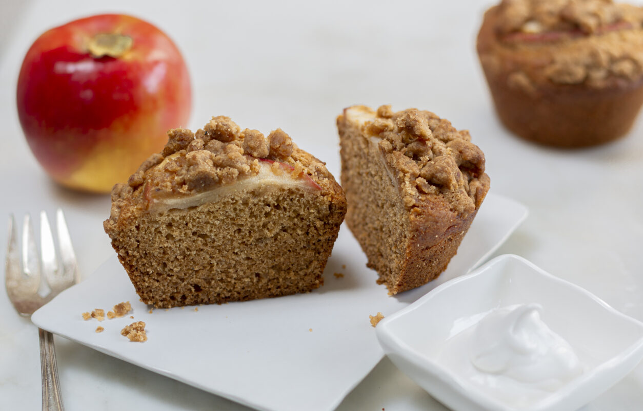 Amazing Apple Crumb Cakes with Cardamom and Ginger