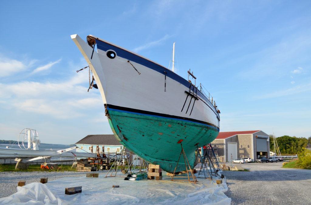 Appledore at Lyman-Morse Boatbuilding in Thomaston, Maine