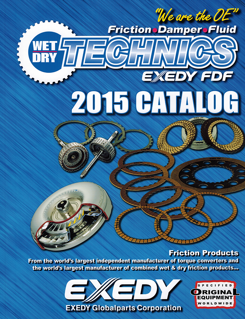 Exedy Wet Dry Technics Catalog
