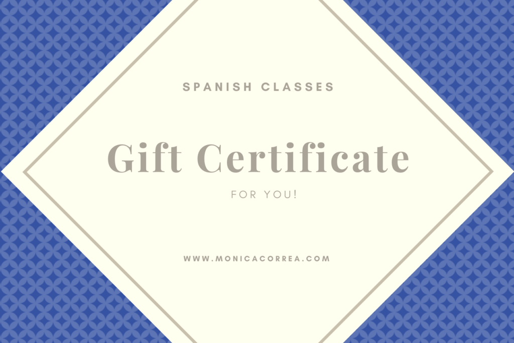 Giftcard spanish classes