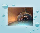 crushed sewer pipe video inspection