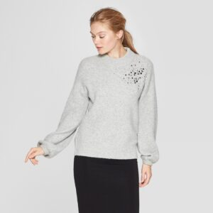 Embellished Pullover Sweater