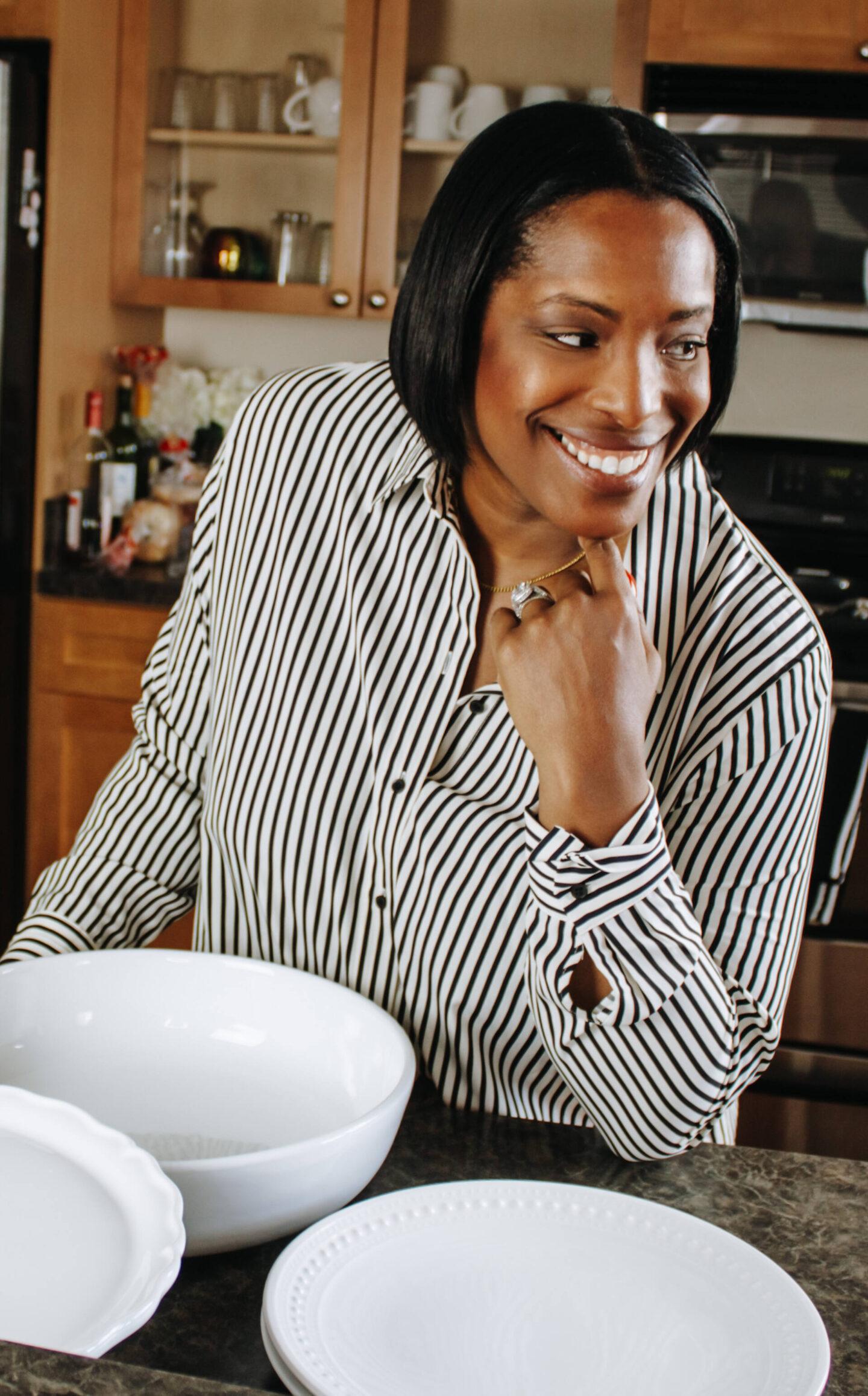 white dishes
