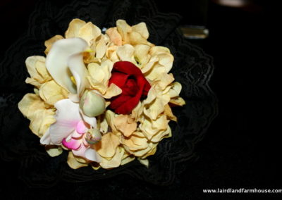 Flowers were a part of a House in Mourninng tradition in the Victorian South as they are today.