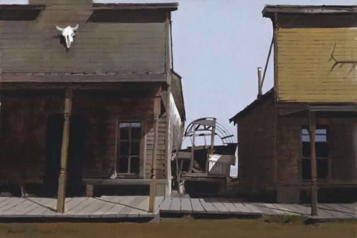 "Trail Town acrylic 10"" x 15"""
