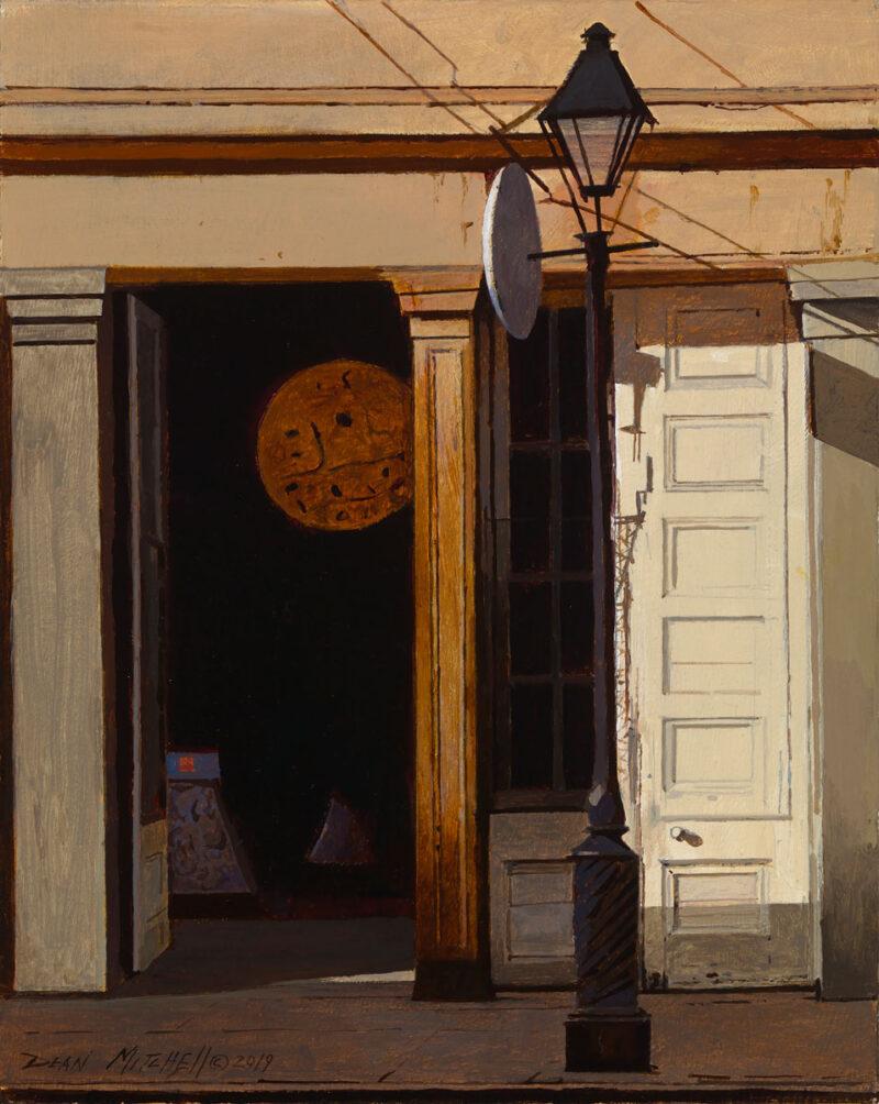 "French Quarter Street Lamp, acrylic, 10"" x 12"""