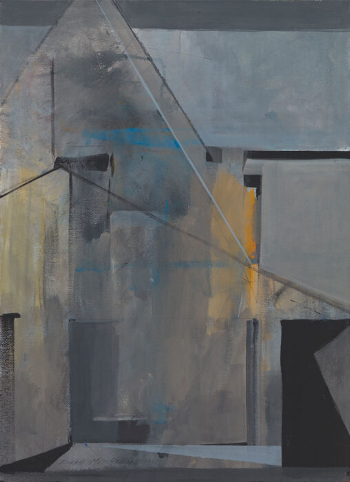 "Osage Mansion, acrylic, 30"" x 20"""