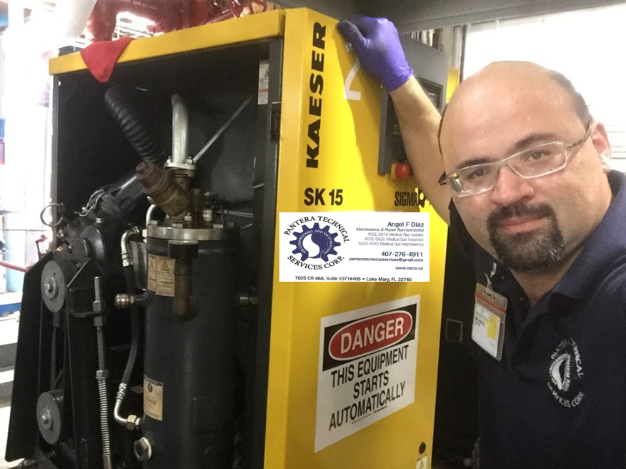 Repair and Maintenance of Air Compressors, Vacuum pumps and ancillary equipment.