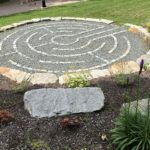 Stone and gravel labyrinth