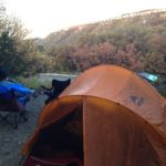 Tenting in Iowa's forests.
