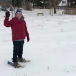 Snowshoeing the labyrinth