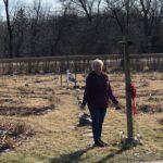 Woman standing in Phoenix Harmony Labyrinth