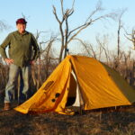 Man by tent