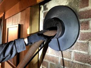 vacuuming the chimney