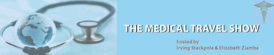 The Medical Travel Show Podcast with Radio Hosts E. Ziemba & I. Stackpole Logo