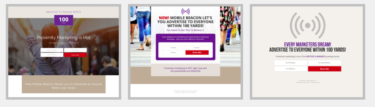 beacon funnel system landing page