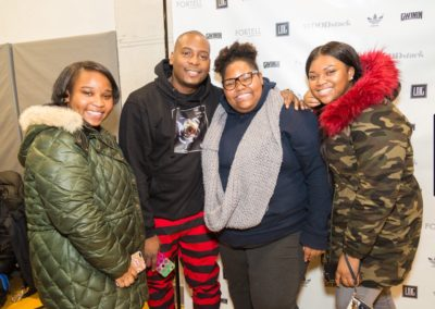 Ascend Charter School students with DJ Self.