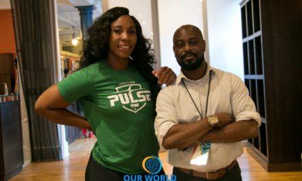 Gwen Berry of Portland PULSE Track & Field  TrackTown Summer Series