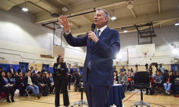 Mayor Bill de Blasio Town Hall meeting at IS 61 in Queens