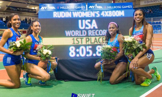 Women's 4×800 team sets World Record