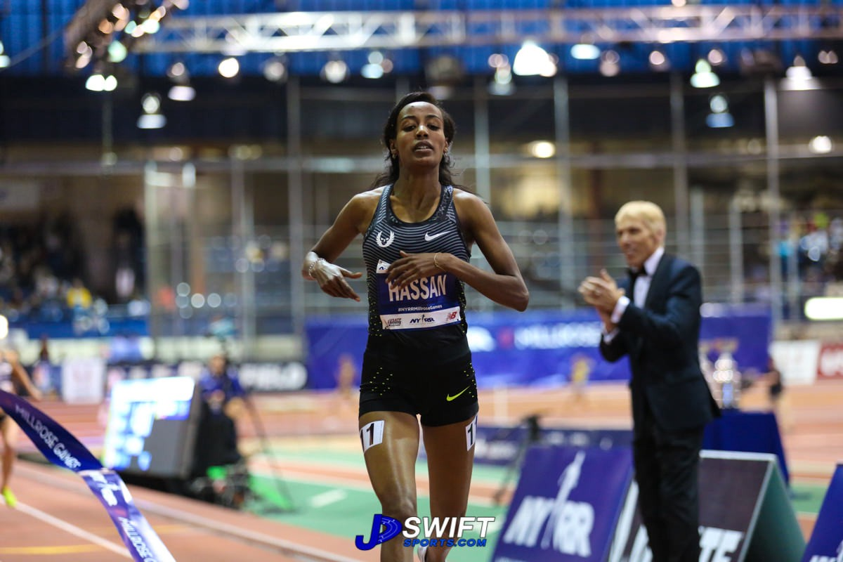 Sifan Hassan in the Wanamaker Mile.