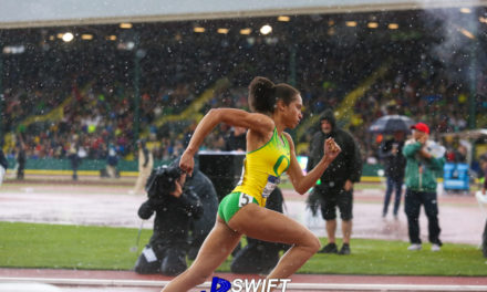 Queens native Sabrina Southerland competes at the  NCAA Outdoor Track  & Field Championships