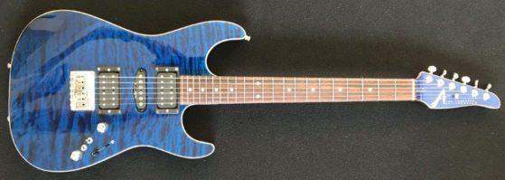 Drew Bentley's favorite axe, Deep Ocean Blue Anderson Drop Top