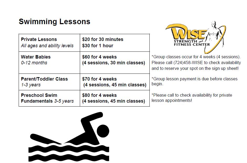Swim Lesson Pricing