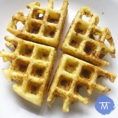 Receta de waffles de pandeyuca