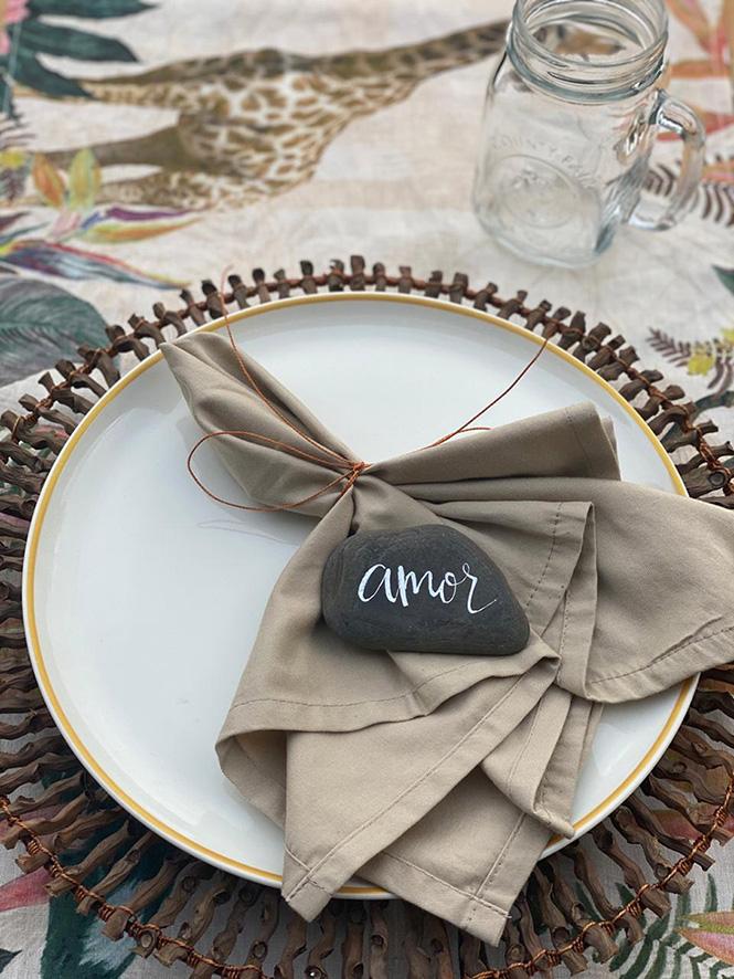 Lettering para la mesa