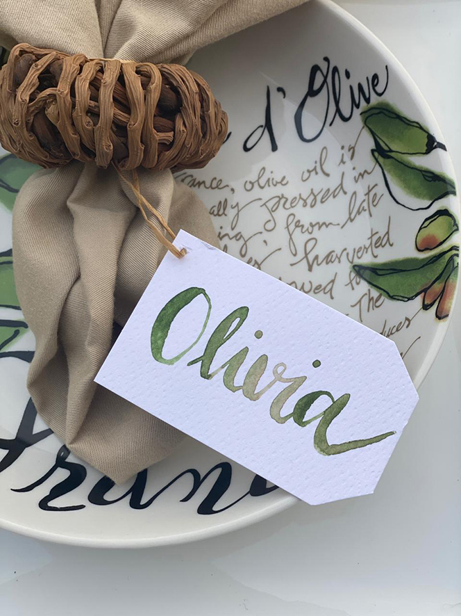 Marcar mesas con lettering